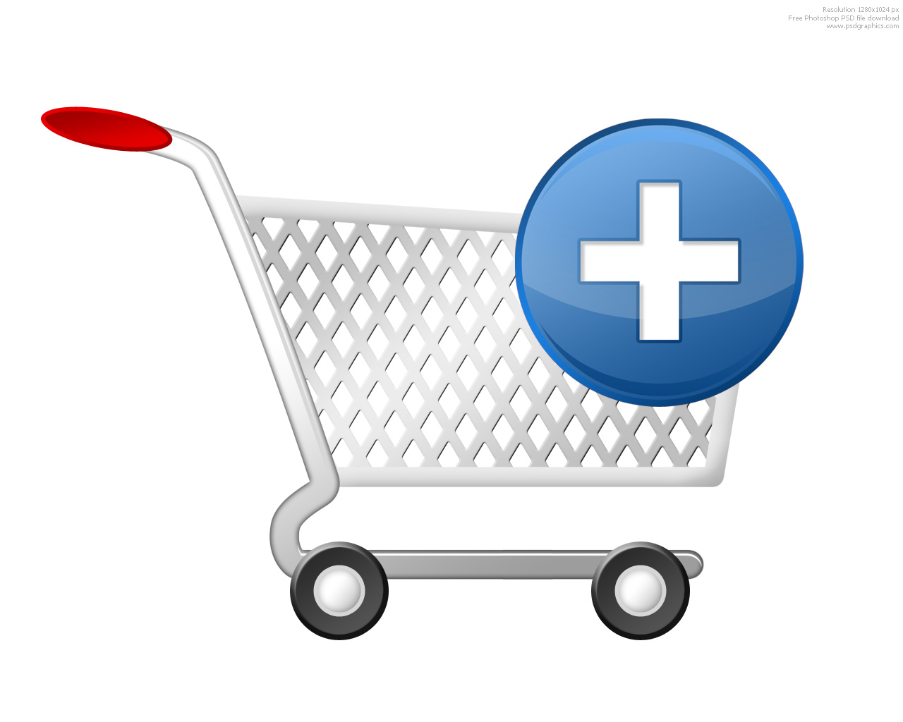 Blue Simple Add Cart Icon image #28334