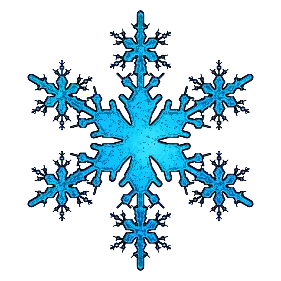 Blue Simple Snowflakes Icon Png image #41278
