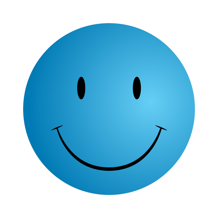 Blue Smiley Face Png image #42675