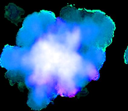 Blue Smoke Png Smoke 036. 424 x 369