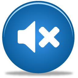 blue sound off icon