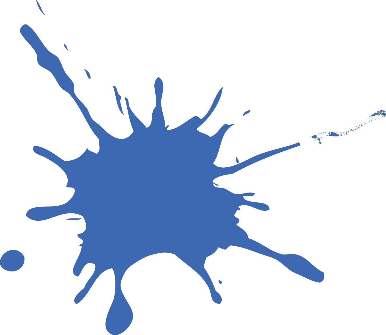 Blue Splat Png image #38284