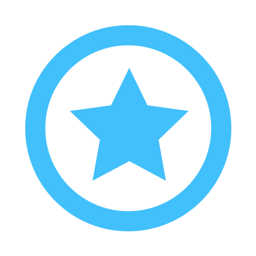 Blue Star Icon 512x512, Star HD PNG Download