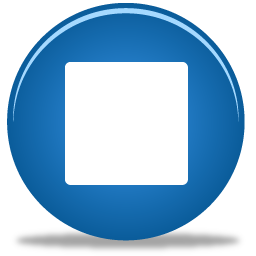 blue stop icon