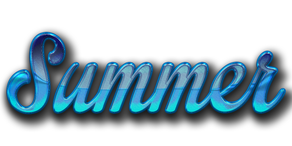 Blue Summer Text Png image #41160
