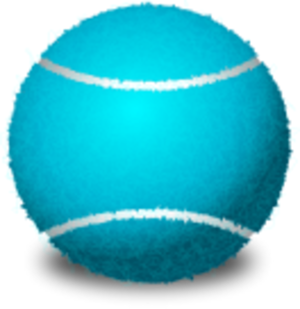 Blue Tennis Ball Racket PNG image #43464