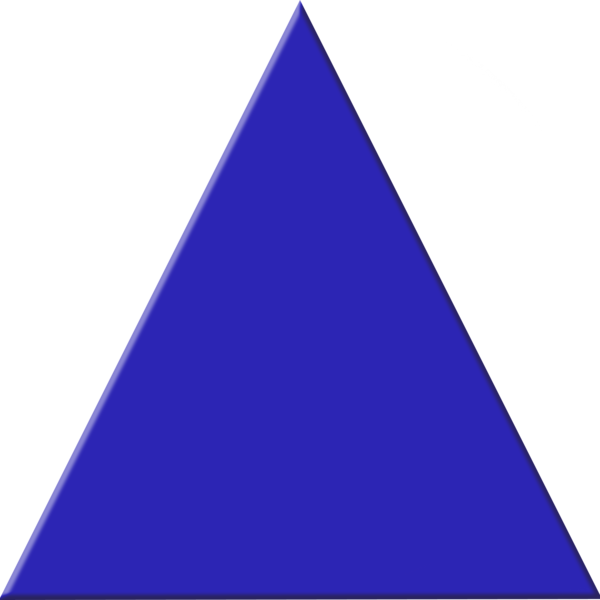 Blue Triangle Png image #42401