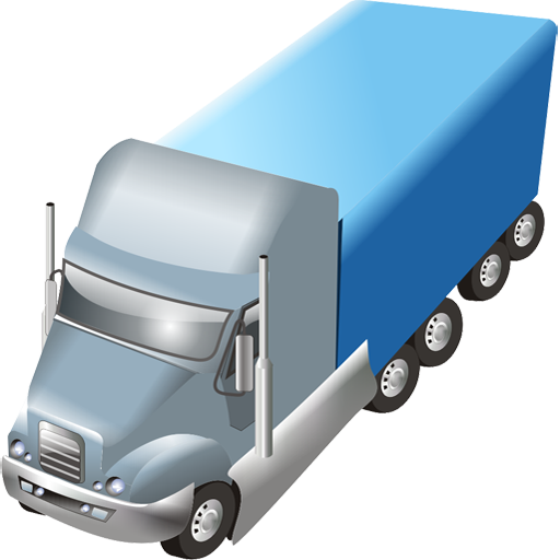 Blue Truck Trailer Png Icon image #37584