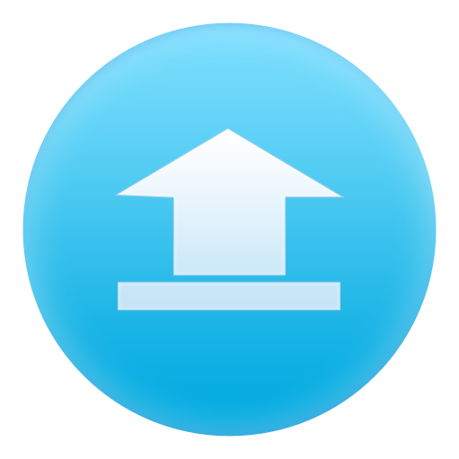 blue, up, file, circle, document, upload icon