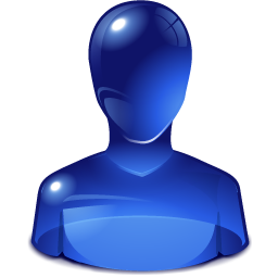 Blue user head png