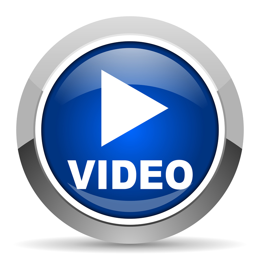 Blue Video Play Icon image #8030