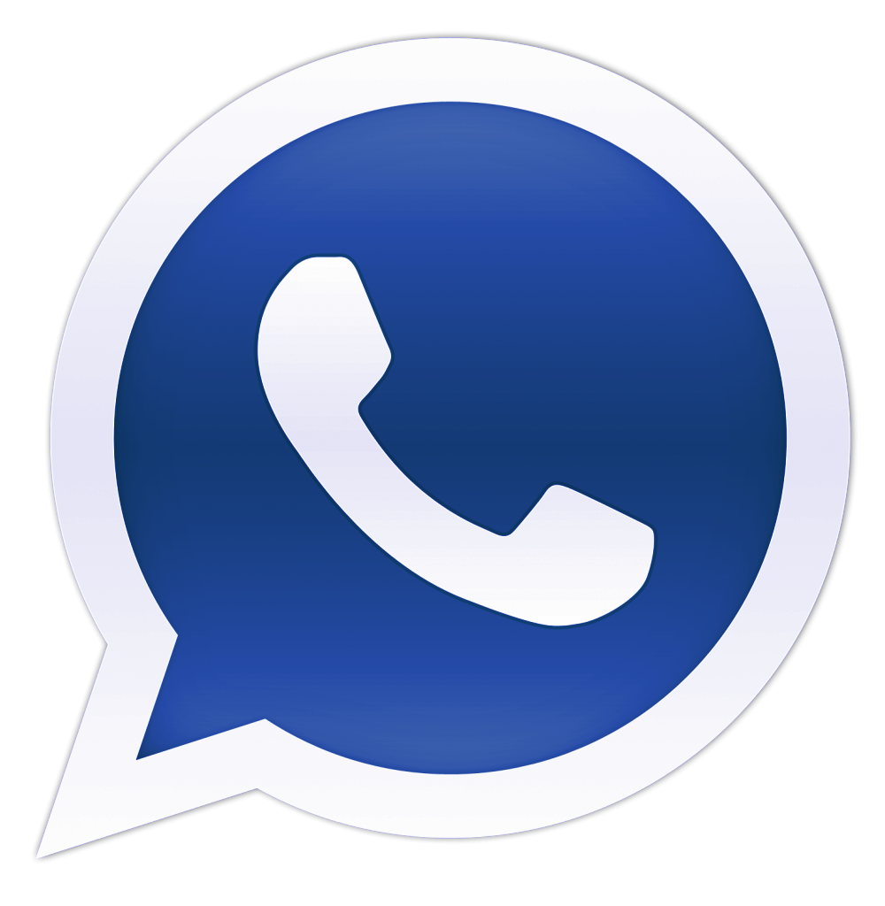 Blue Whatsapp Logo Clip Art #46068 - Free Icons and PNG Backgrounds