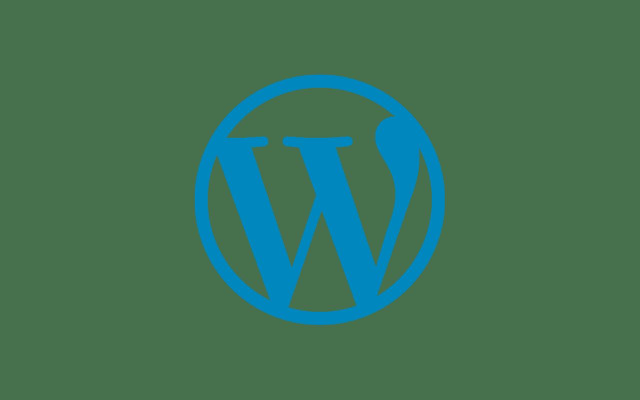 Blue Wordpress Logo HD picture