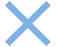 Blue X Png image #35392