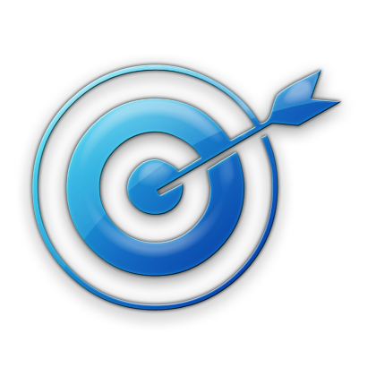 bluee target Icon