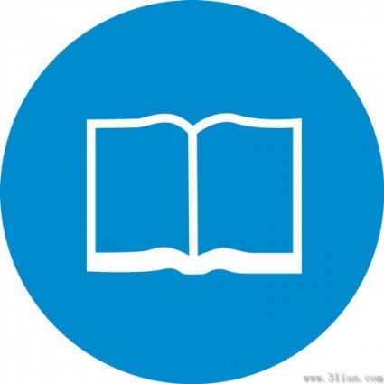 Book icon blue background vector Free vector in Adobe Illustrator ai