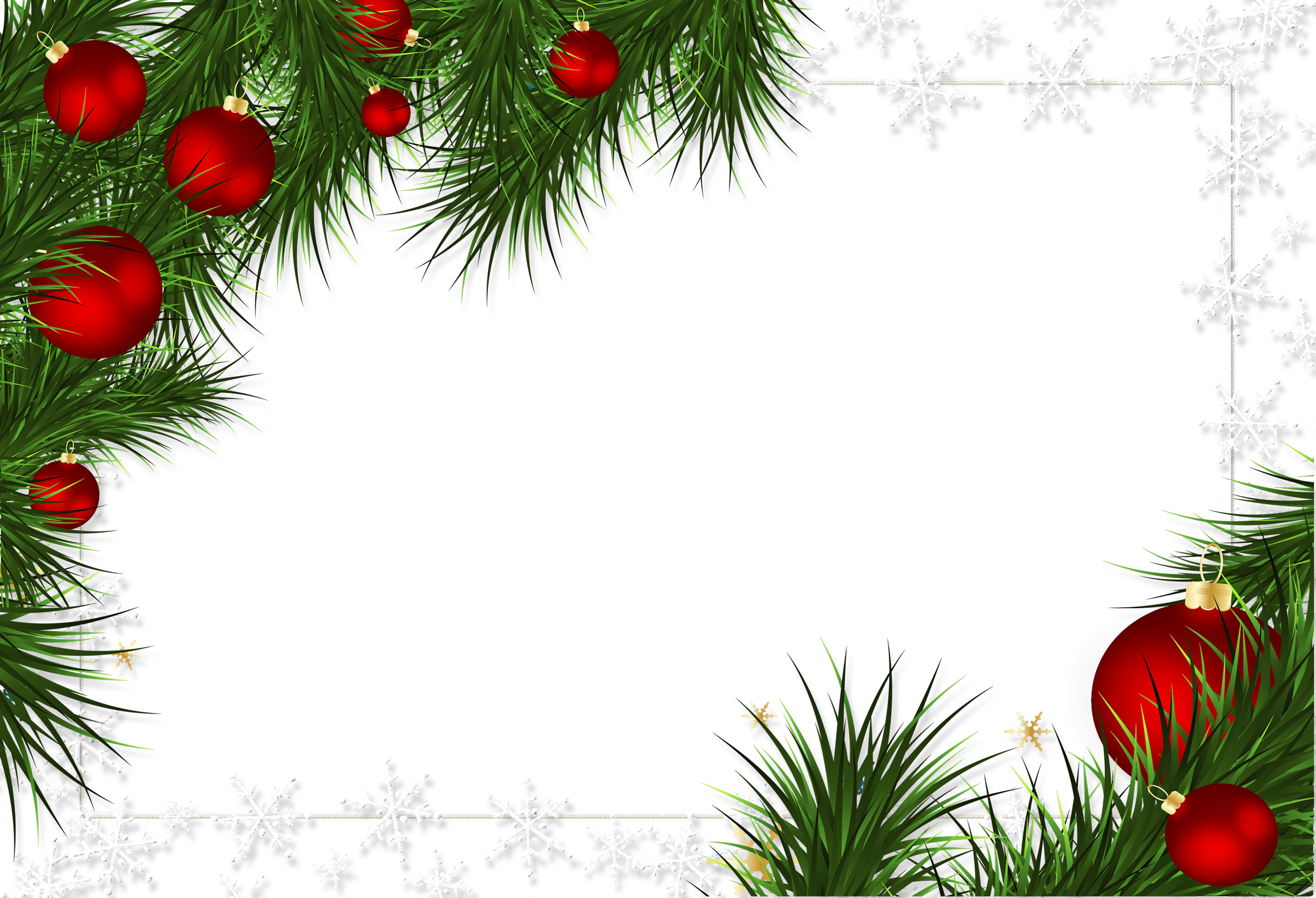 Borders And Frames Christmas Decorations Png 47105 Free Icons And