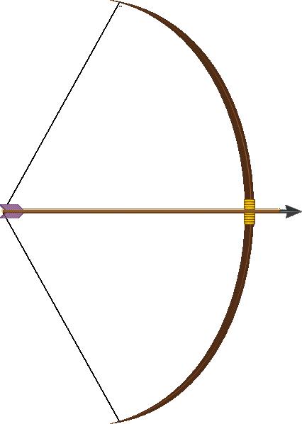 Bow And Arrow Clip Art image #44394