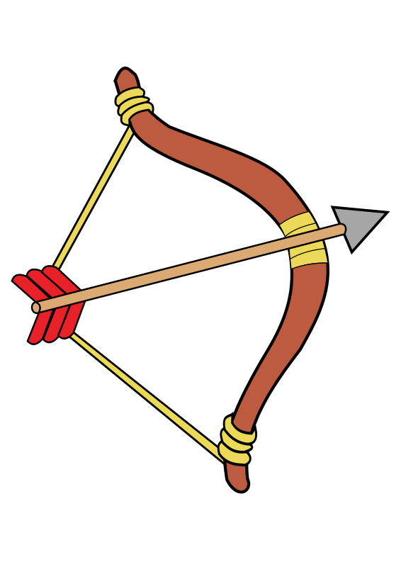 Bow And Arrow Clipart image #44418