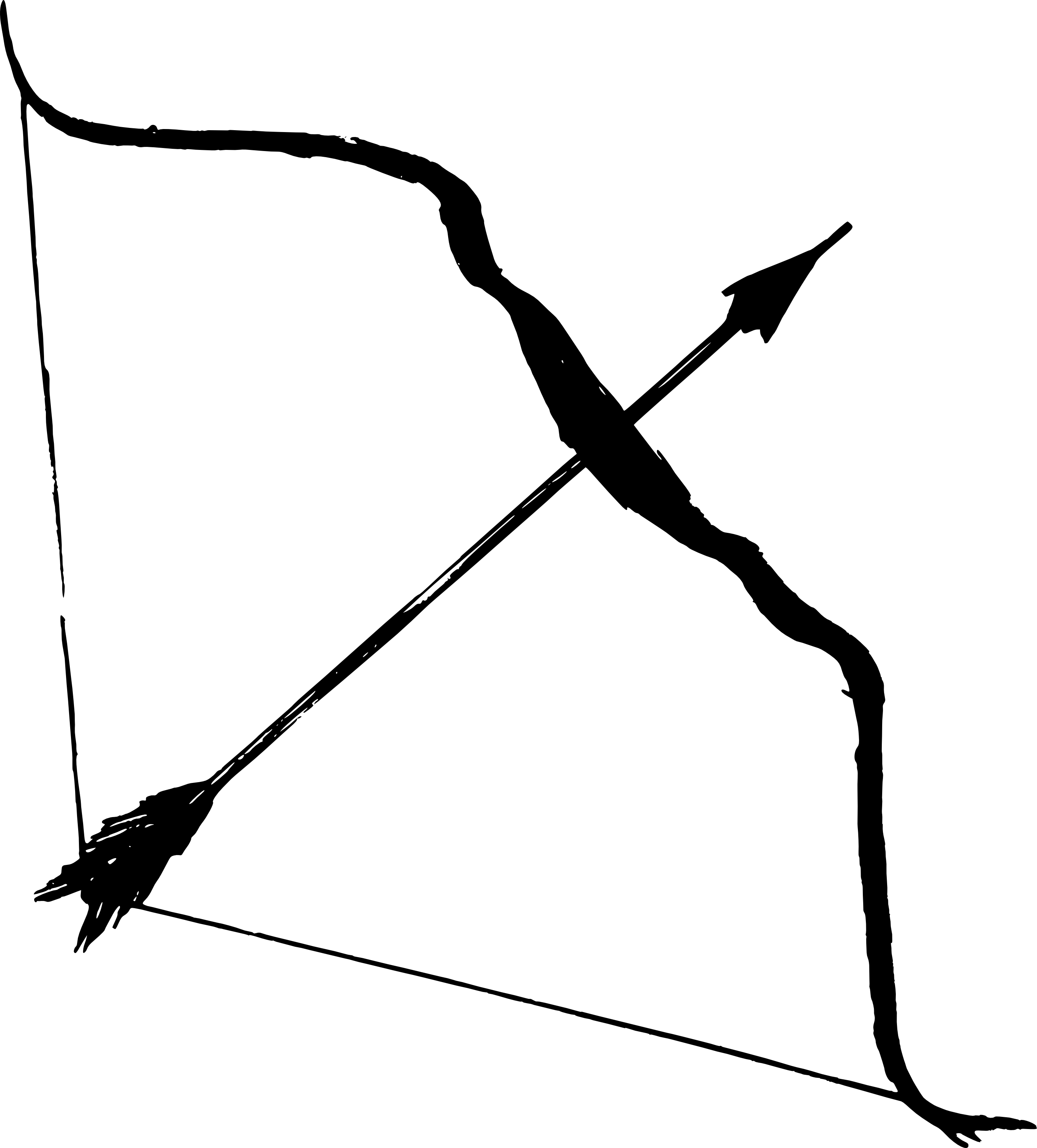 Bow And Arrow (PNG Transparent) image #44395