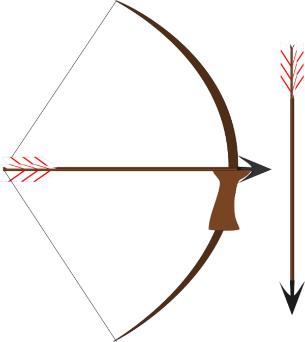 Bow And Arrow  Vector Clip Art image #44413