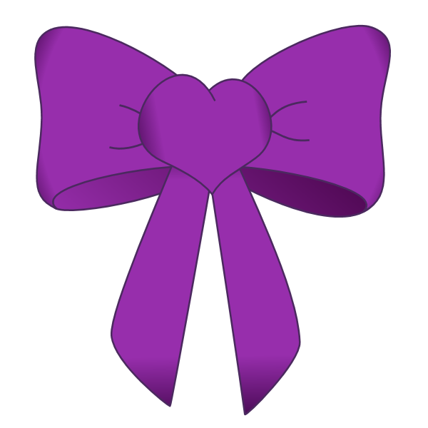 Bow Purple Graphics Png image #42264