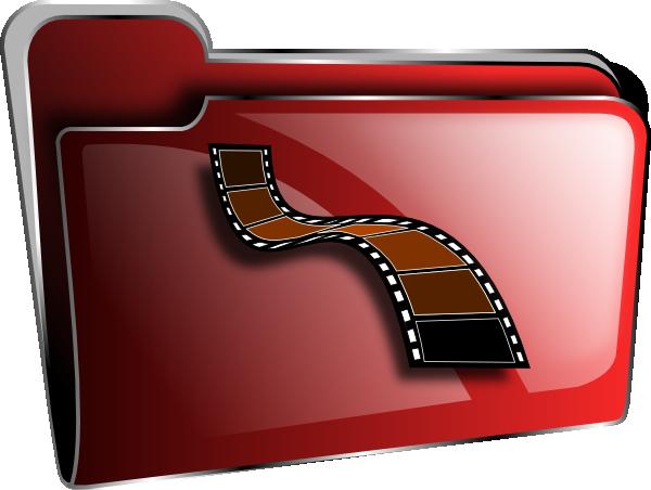 Bright Red Movies Folder Photos