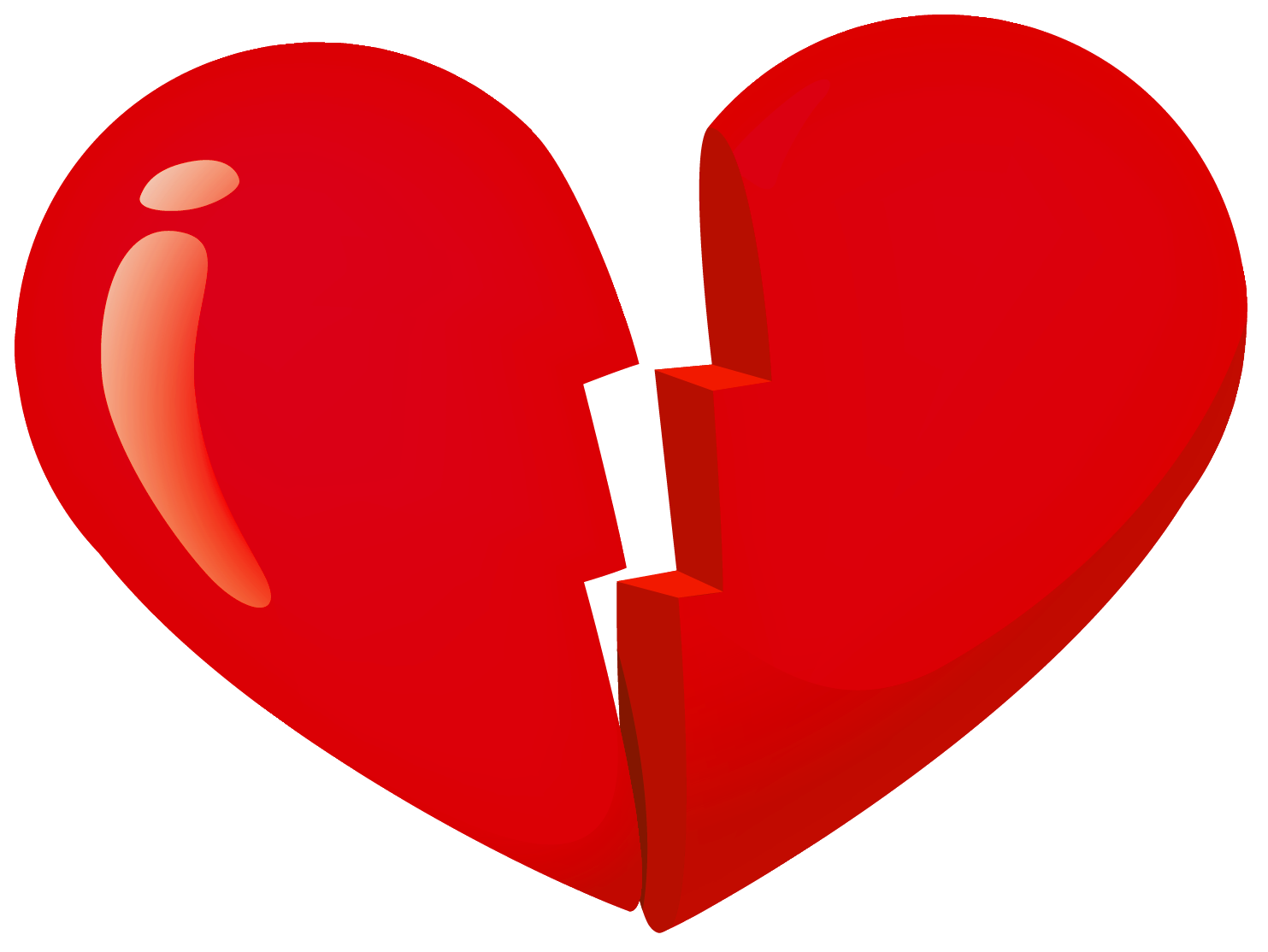 Broken Heart PNG Transparent Image