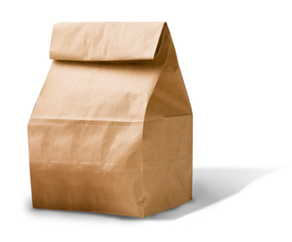 Brown Bag Lunch Png image #4944