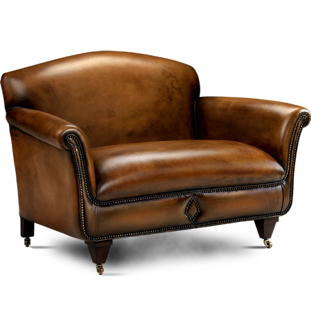 Brown Old Couch Png image #37463