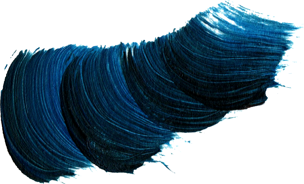 Brush Stroke Waves Dark Blue
