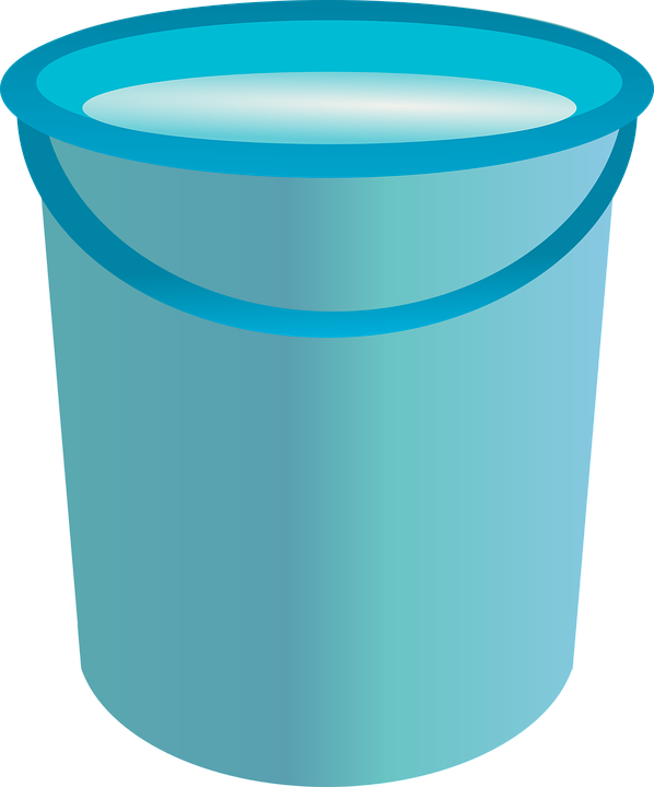 Bucket Water Container Vector Clipart image #48900