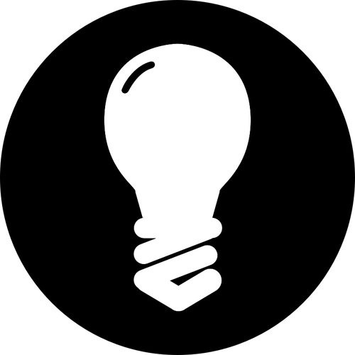 Bulb Off Vector Drawing