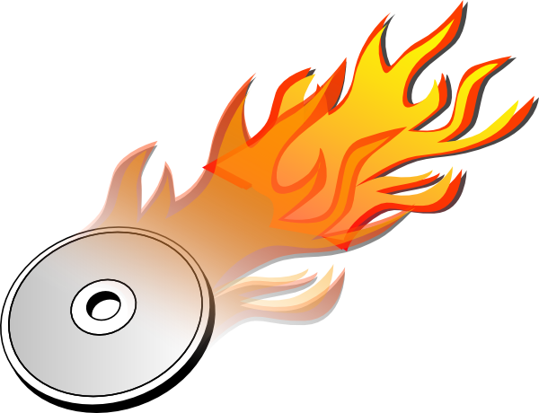 Icon Drawing Burn Disk