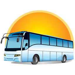 Bus With Sun Png image #40042