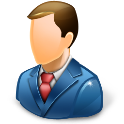 Business Man Blue Icon Free Search Download As Png, Ico And Icns  image #1958