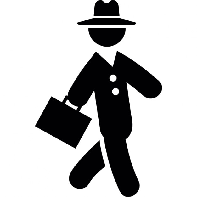 Businessman Walking Icon image #7393