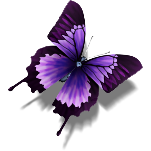 Transparent Icon Butterfly image #17676