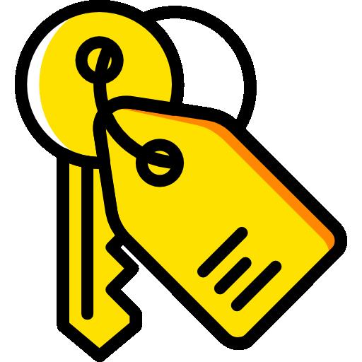 Buy, house, key ring, keys, move icon