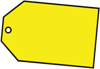 blank ticket yellow for buy png