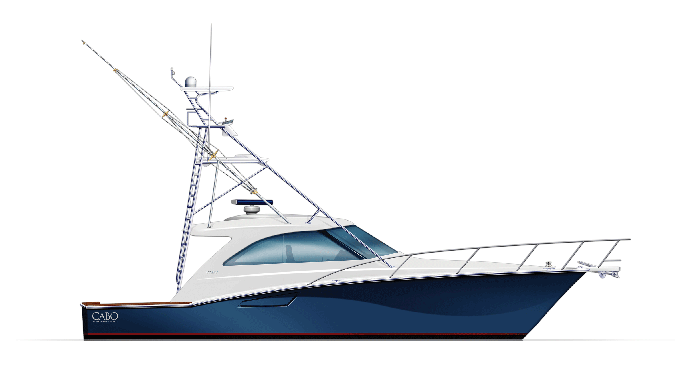 Cabo Yachts Boat PNG