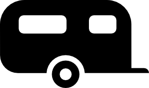 Camper Van Silhouette Icon image #13545