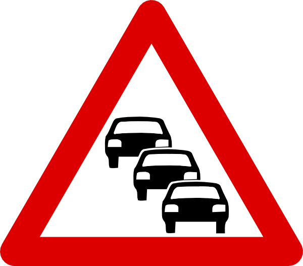 Car, Heavy Traffic, Sign, Traffic Icon  image #5871