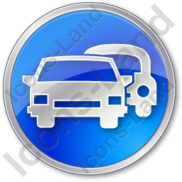 Car Rental Service Circle Blue Icon, PNG/ICO Icons, 256x256, 128x128  image #2424
