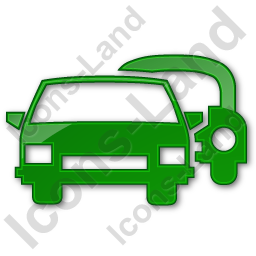 Car Rental Service Plain Green Icon, PNG/ICO Icons, 256x256, 128x128  image #2426