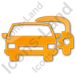 Car Rental Service Plain Orange Icon, PNG/ICO Icons, 256x256, 128x128  image #2435