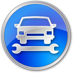 Car Repair Blue Icon | Points Of Interest image #2432