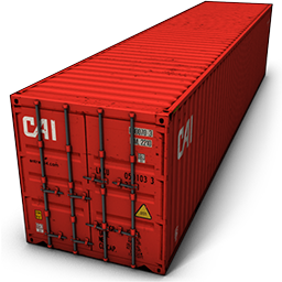 Cargo Red Container Icon image #31766