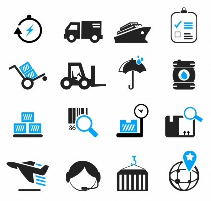 Cargo Ship Icon Logistics and shipping icons