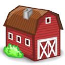 cartoon animal farm icon